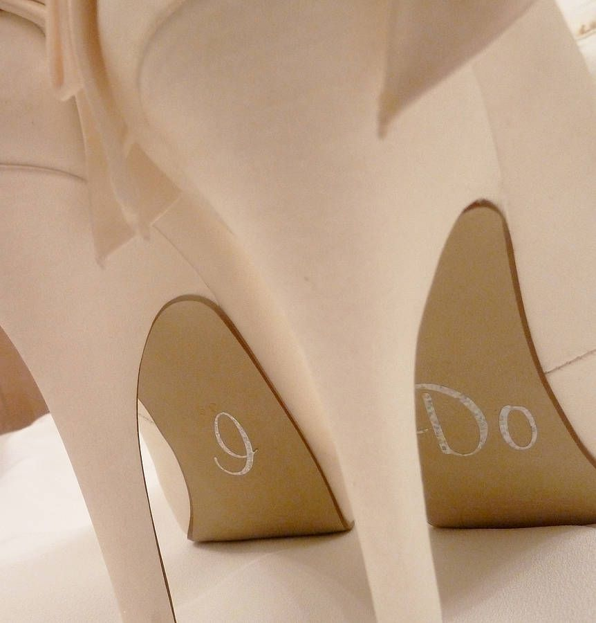 4 25 Personalised Wedding Shoe Stickers