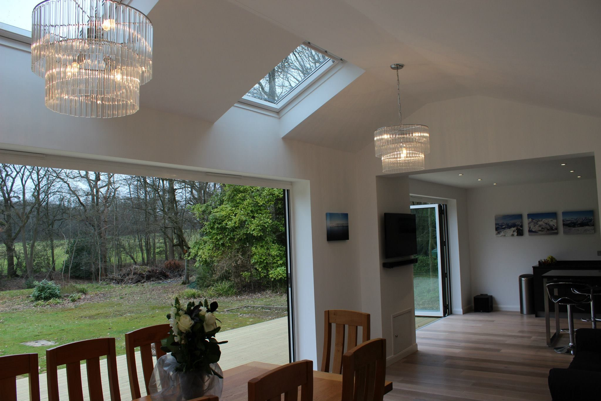 Removed Old Conservatory And Re Built A New Extension To Create Large Open Plan Kitchen
