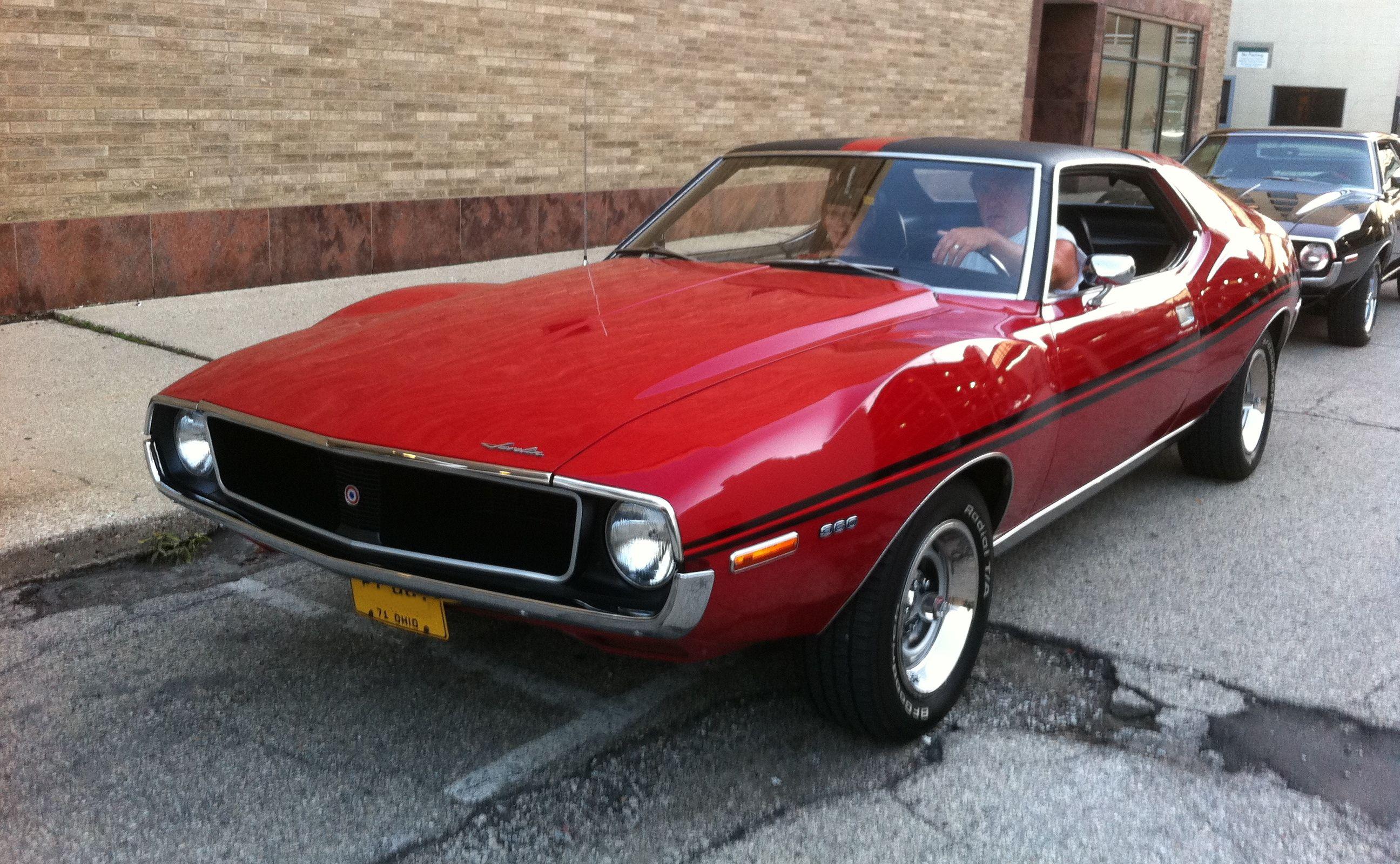 1971 Amc Javelin Sst Red Kenosha Street Amc Javelin Amc American Motors