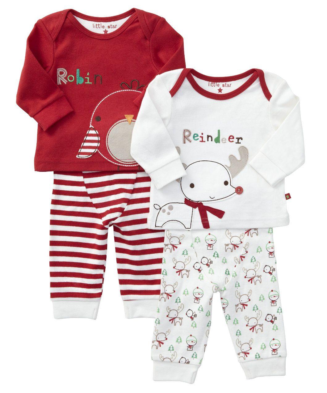 Mothercare Unisex Christmas Pyjamas Set – 2 pack - pyjamas - Mothercare eb12235ee