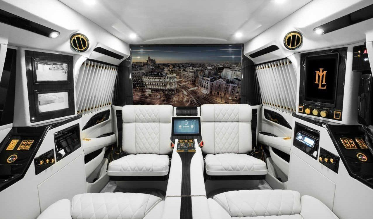Interior of lexani motorcars 2016 cadillac escalade sky captain piano edition