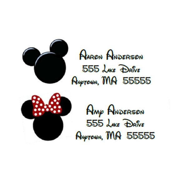 minnie mouse ear return labels mickey and minnie mouse inspired