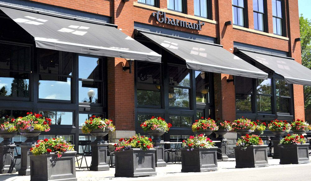 5 Reasons Why Awnings Are A Great Idea For Business Entry Doors French Doors Patio Small Entrance