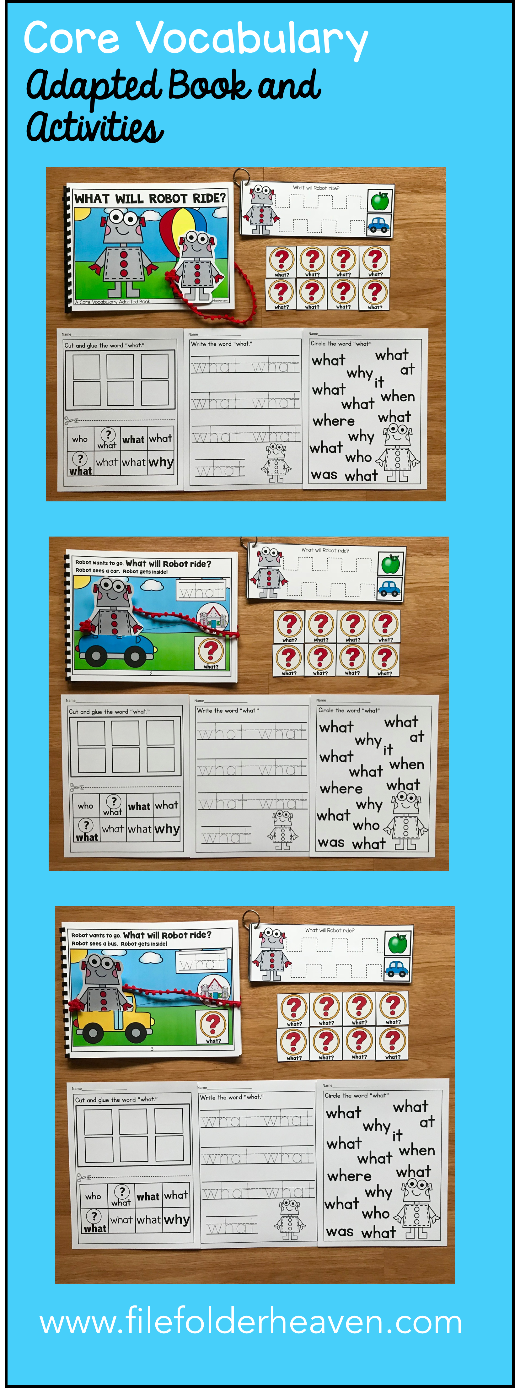 This Core Vocabulary Adapted Book What Will Robot Ride