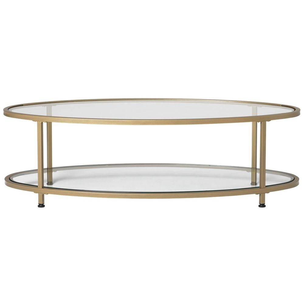 Studio Designs Camber Oval Modern Tempered Glass Coffee Table Clear 71038 Best Buy Coffee Table Oval Glass Coffee Table Gold Coffee Table [ 1000 x 1000 Pixel ]