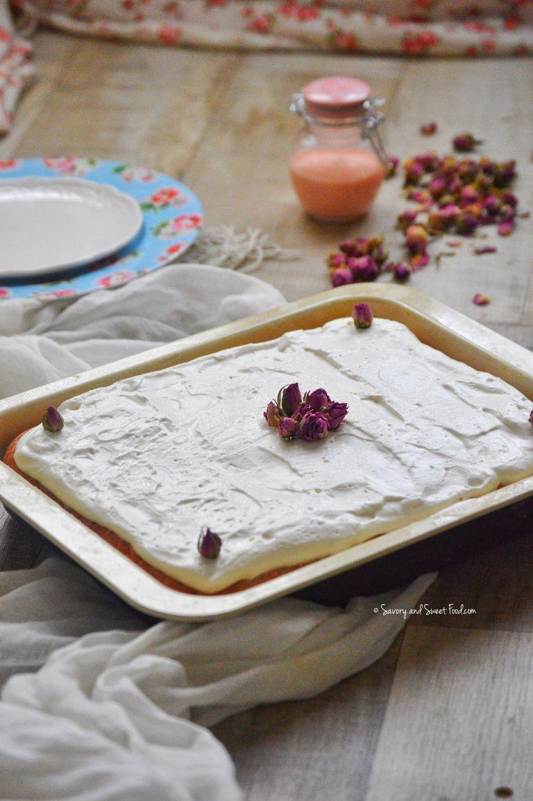 Rose Milk Cake/ Rose Tres Leches Cake | Tres leches cake ...