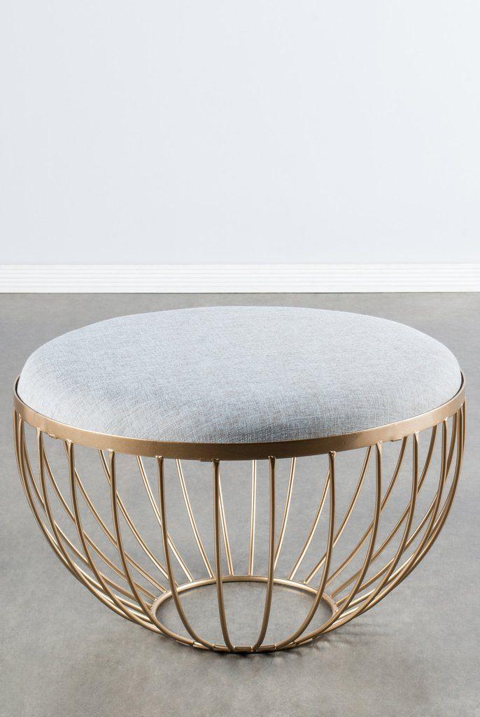 T637-Kylie Ottoman/Coffee Table | Acero, Hierro y Oficinas