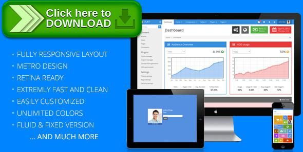 Free nulled FLAT - Responsive Admin Template download | Template