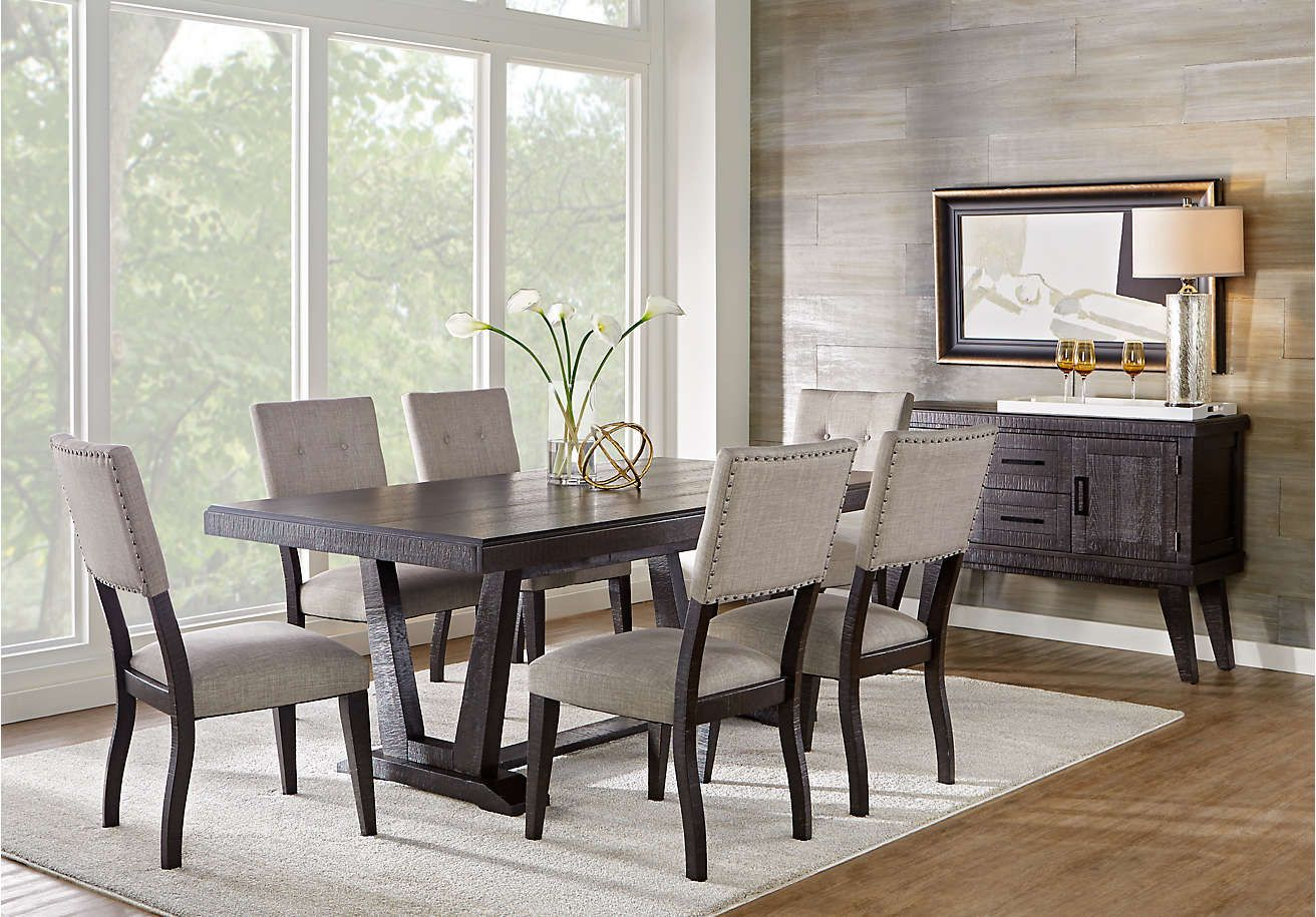 Brynwood white 5 pc round dining set dining room sets colors - Hill Creek Black 5 Pc Rectangle Dining Room From Furniture