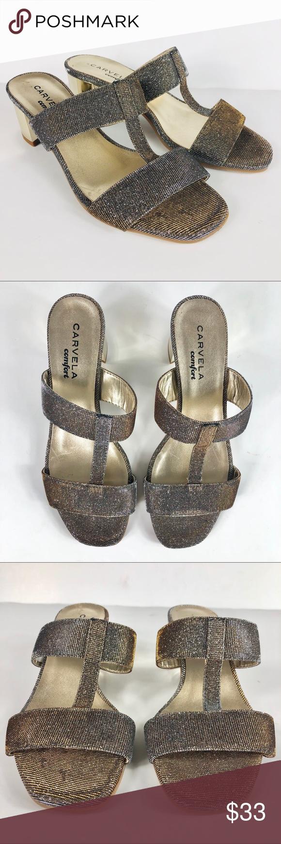 Carvela Comfort Suzy Metal Comb Sandals