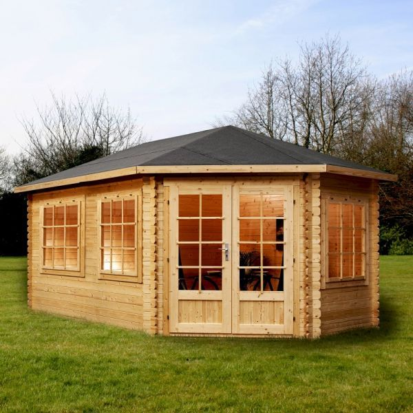 avon 5m x 3m somerset corner log cabin right sided http - Garden Sheds 5m X 3m
