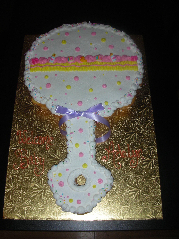 Baby Rattle.   Next years bday cake