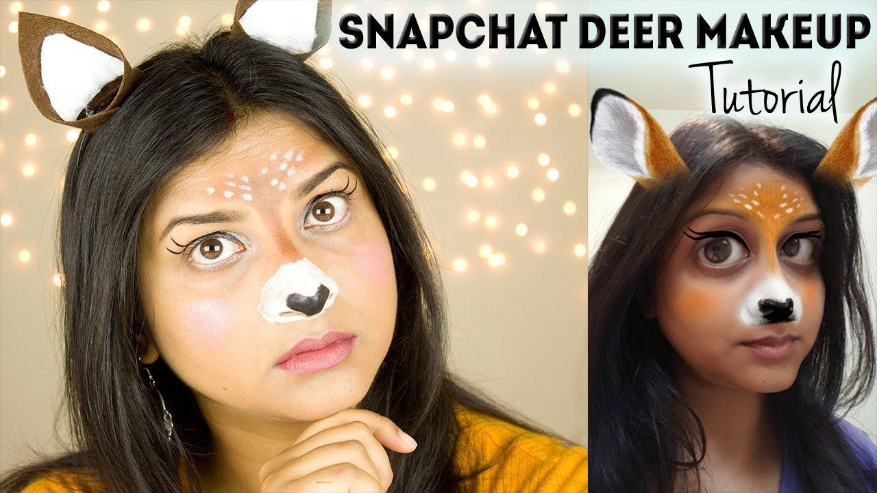 Snapchat Deer Filter Makeup Tutorial / Easy Cute Halloween
