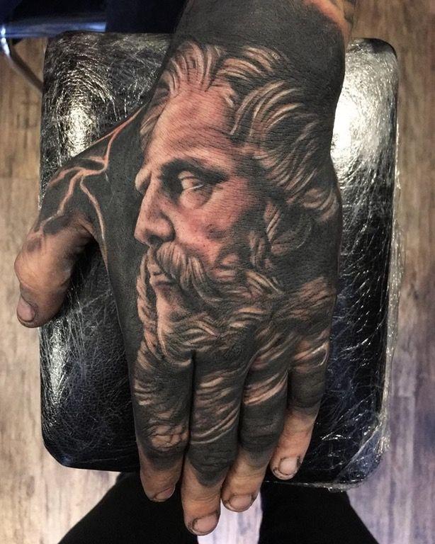 Pin By Tyrone Cheeks On Tattoos Zeus Tattoo Hand Tattoos Small Hand Tattoos