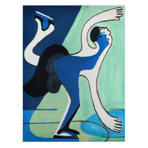 East Urban Home Ice Skater By Ernst Ludwig Kirchner Oil