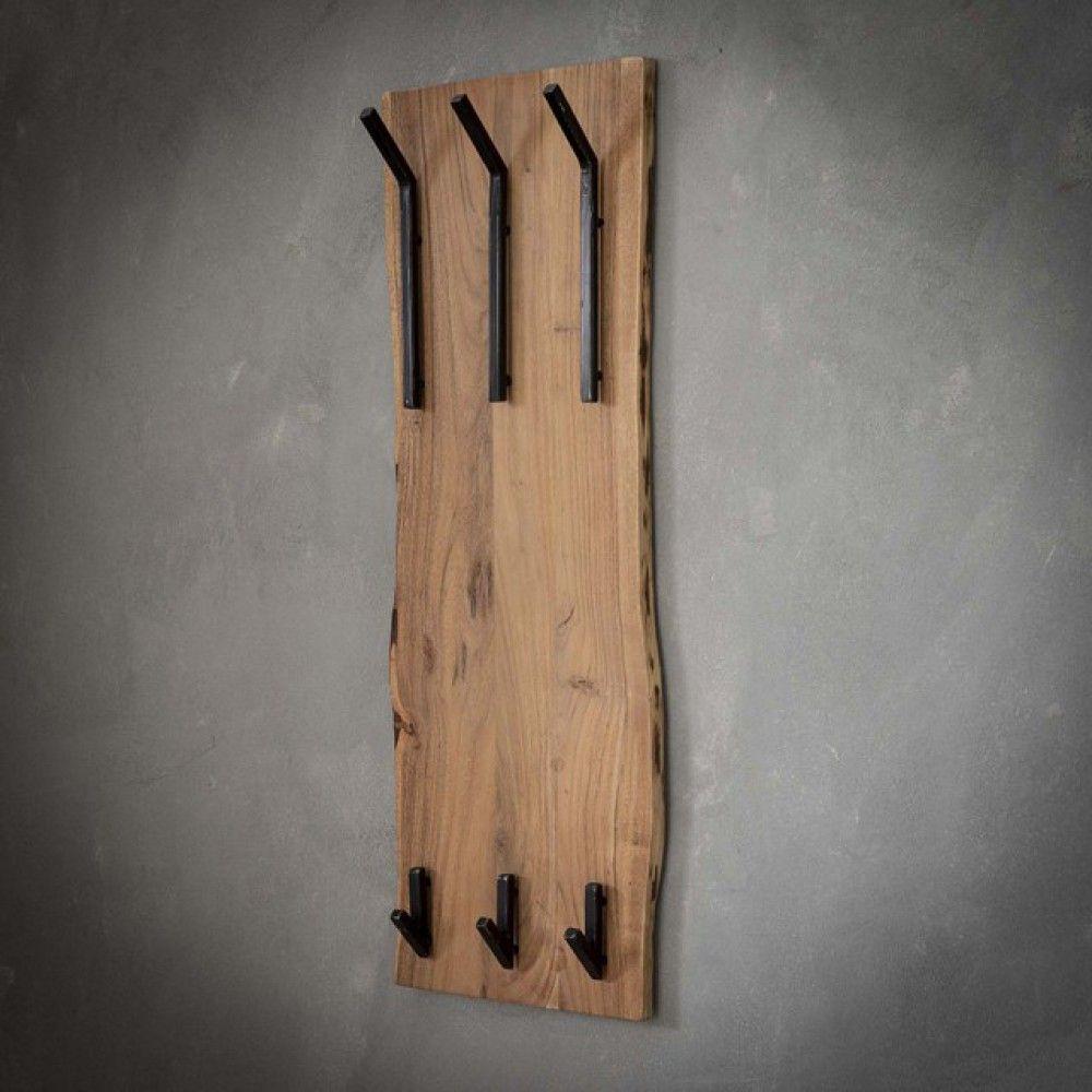 Photo of Wandgarderobe Holz-Metall, Garderobe Holz
