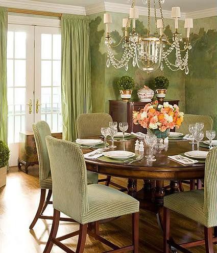 Green Dining Room by Meg Braff
