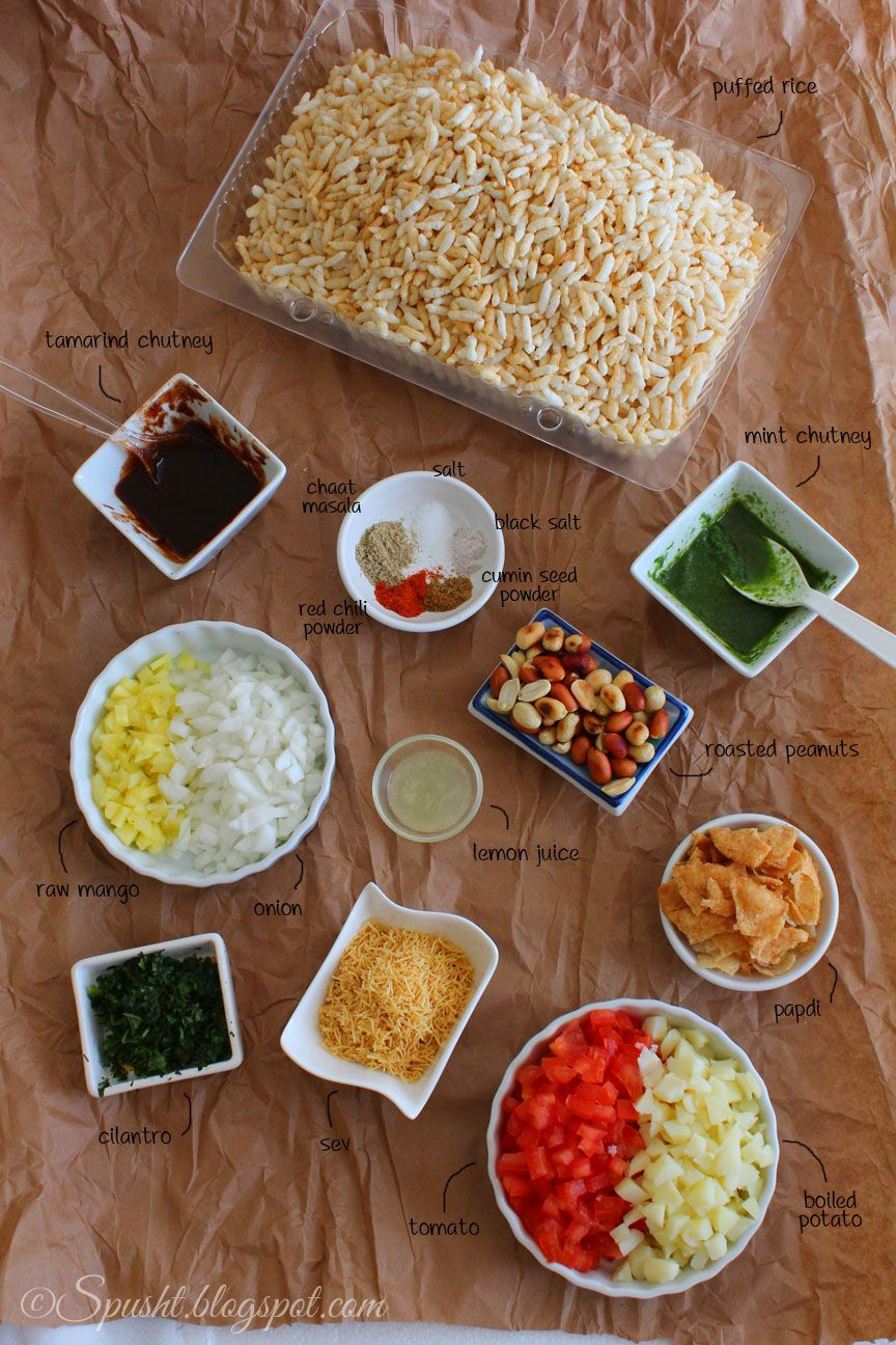 Spusht ingredients for bhel puri chat foods pinterest recipe recipe for bhel puri an indian chaat snack that is so easy to make and so irresistibly yum and if you serve bhel puri in paper cones just like the roadside forumfinder Choice Image