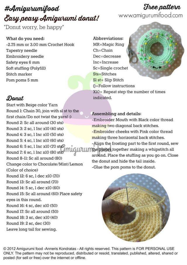 DeZeyn - Zeynep'in Hobi Dunyasi: Amigurumi Donut Ignelikler ... | 905x640