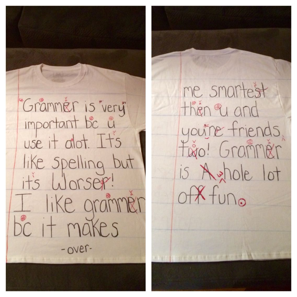 This is a badly written paper Halloween costume that went along ...