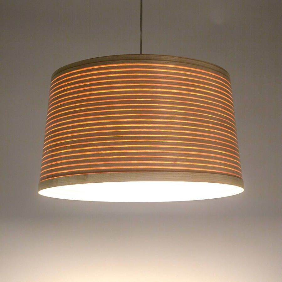 This Uncomplicated Wooden Drum Lampshade Is Made From Coiled Steam Bent  Ash, Oak Or Walnut