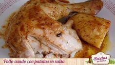 Pollo asado al horno, receta deliciosa y saludable
