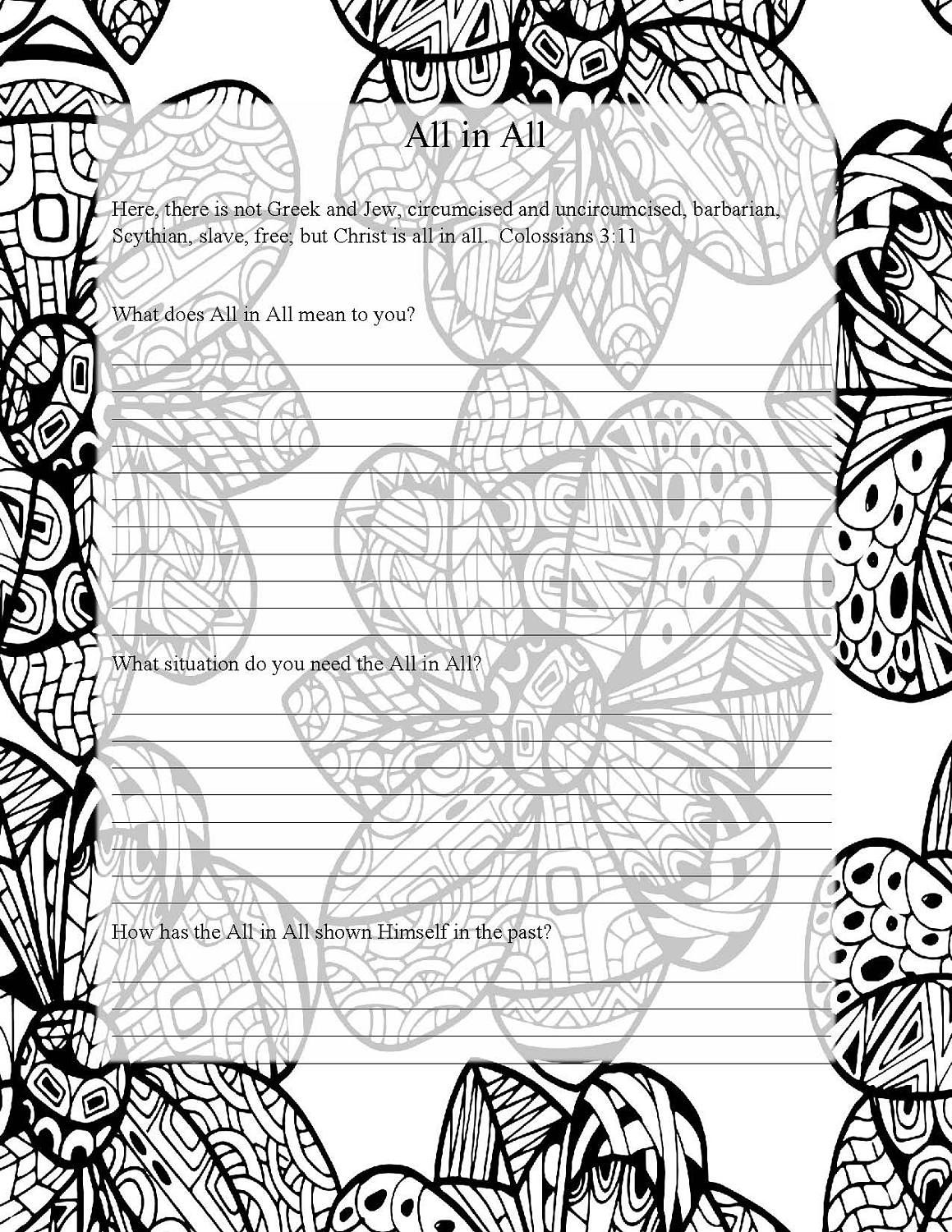 Names of God Coloring Pages Prayer Journal Adult Coloring | kid\'s ...