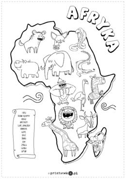 Zwierzeta Afryki Printoteka Pl Kolorowanki Zwierzeta Afryka