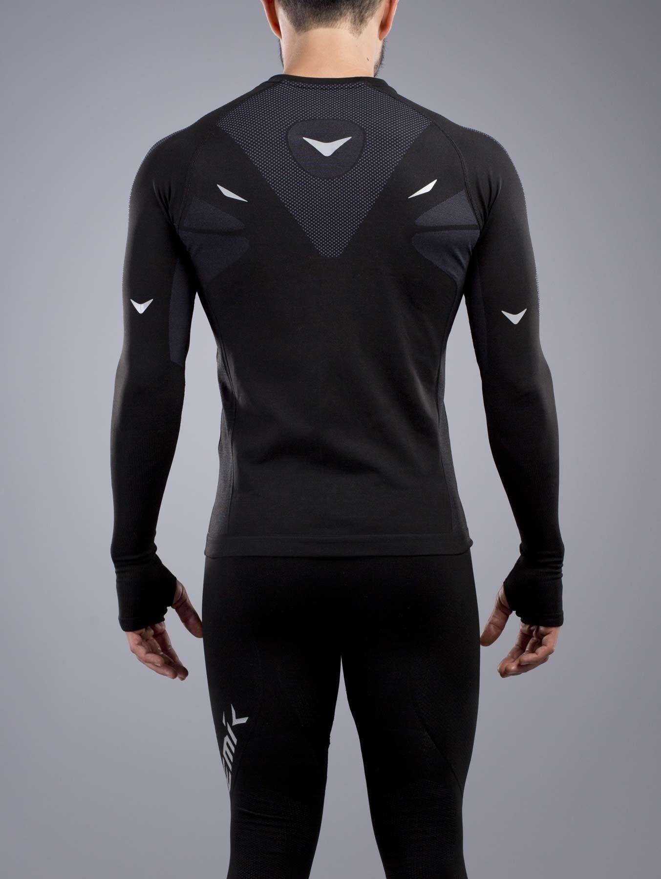 PLAYERA DEPORTIVA MANGA LARGA CABALLERO Nemik  longsleeve  tshirt  black   Nemik 38916044c575