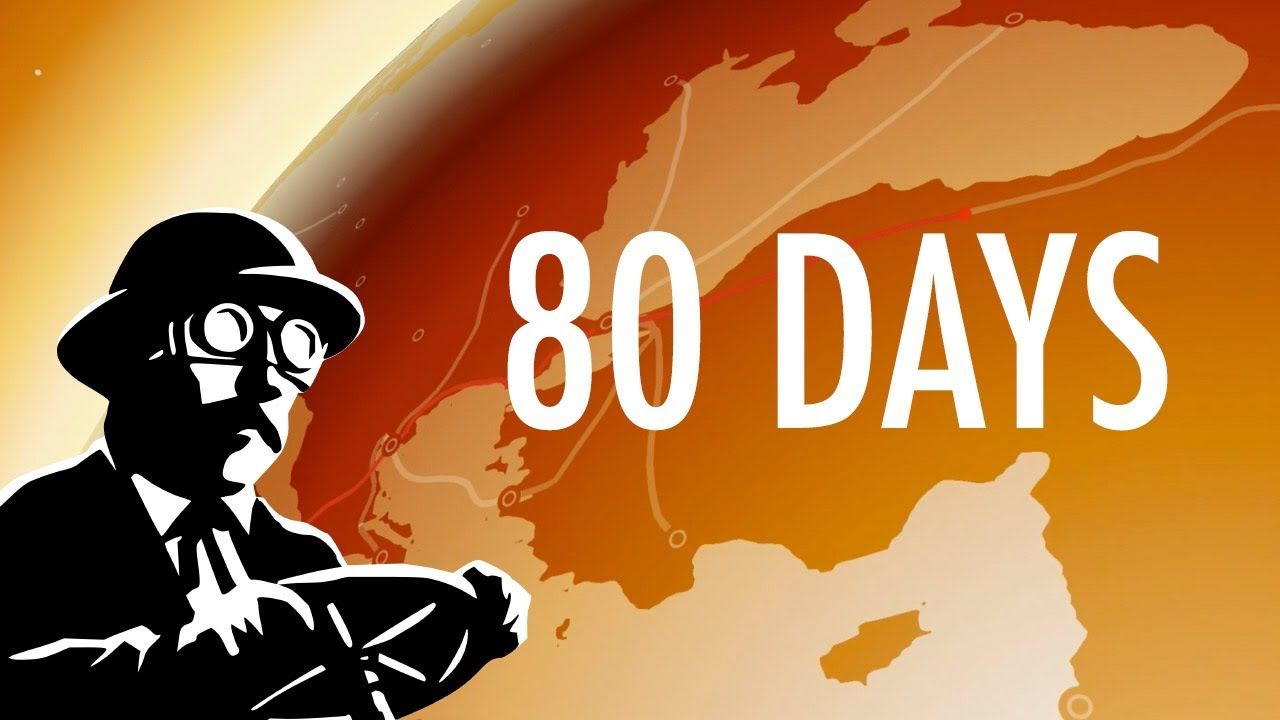 80 Days gameplay video   Touch UI text animation references