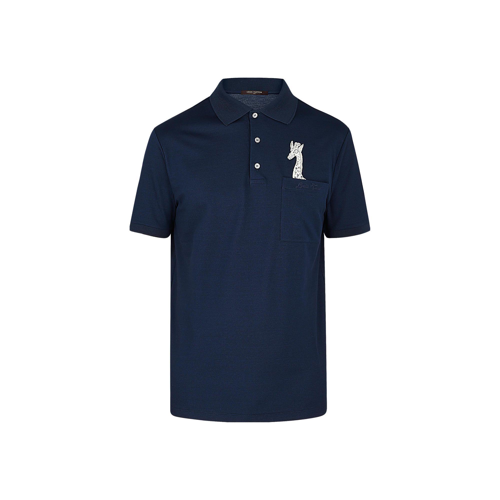 Giraffe Pocket Polo Via Louis Vuitton Shirt Suits Polo T