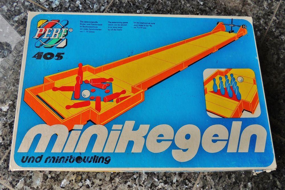 DDR- Spiel MINIKEGELN UND MINIBOWLING, Pebe- Spiele, OVP, Anleitung