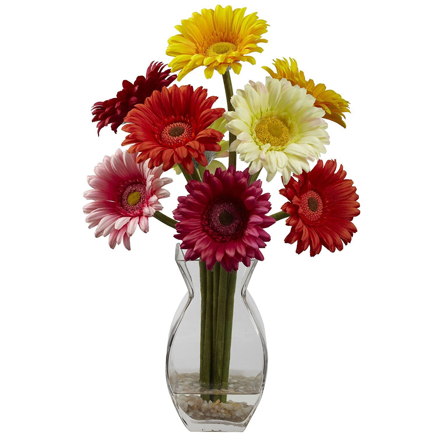 Nearly natural 1297 as gerber daisy with vase arrangement nearly natural 1297 as gerber daisy with vase arrangement assorted to reviewsmspy