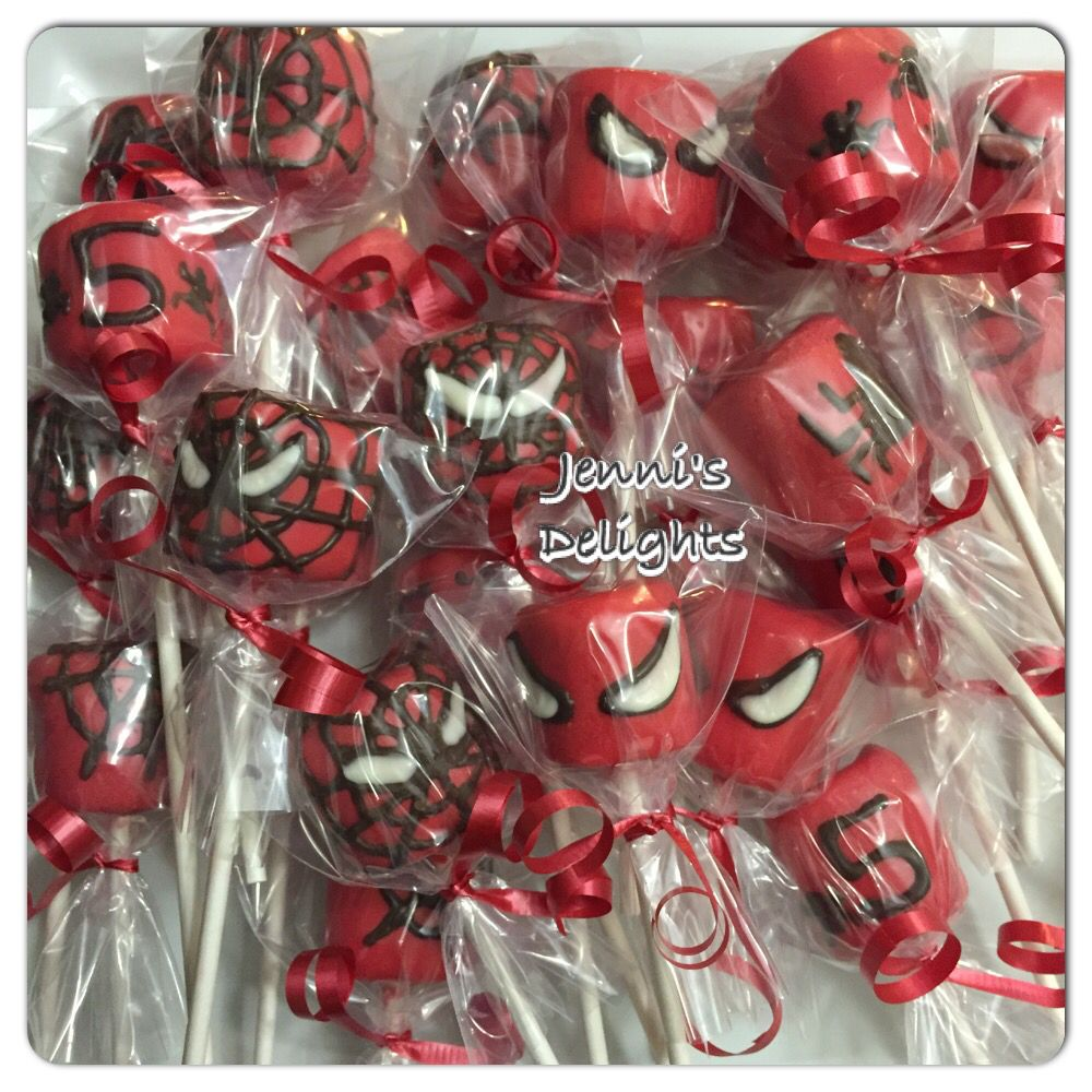 Spiderman Marshmallow Pops For A Special Little Boys 5th