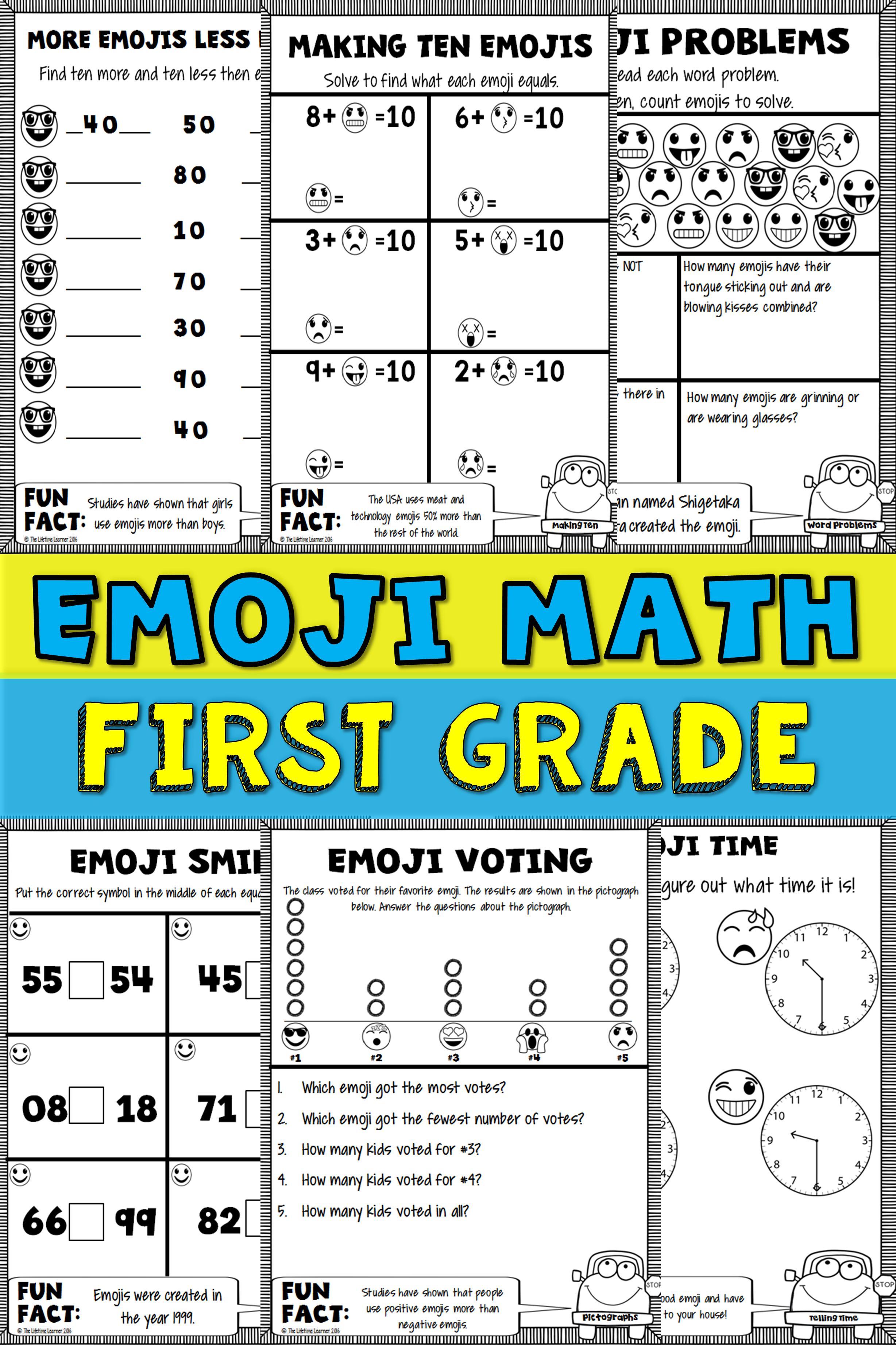 1st Grade Emoji Math Emoji Math Math Packets First Grade Math [ 3684 x 2456 Pixel ]