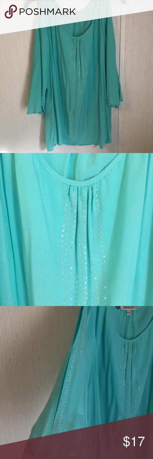 Jennifer Lopez Blouse My Posh Closet Pinterest Blouse Aqua