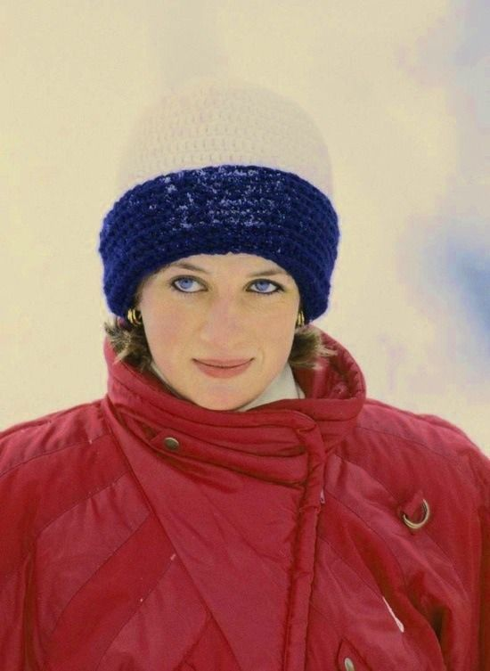 Princess Diana on a skiing holiday in Malbun, Liechtenstein, 1 January 1985.