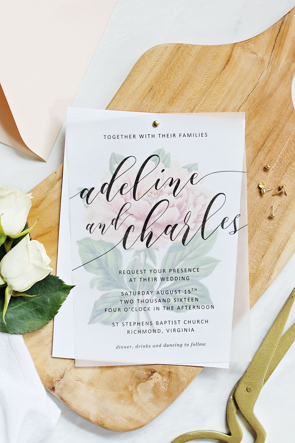 Make your own beautiful floral wedding invitations with nothing ...