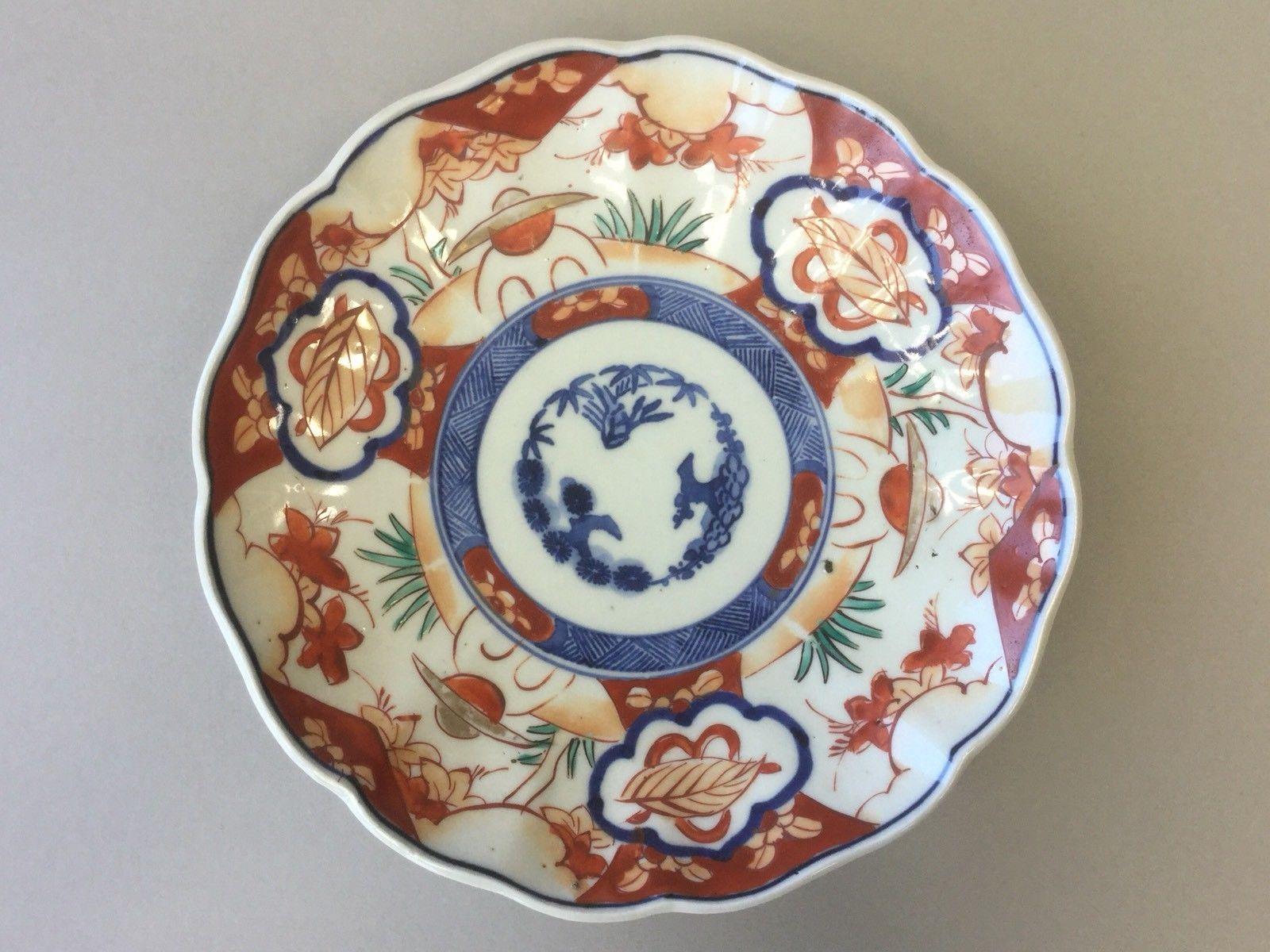 19th C Japanese Imari Plate Three Friends Of Winter Ebay