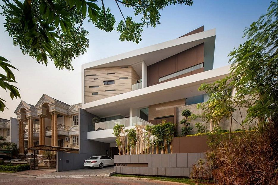 House In Jakarta By DPHS Architects Image Home Architecture - Modern house jakarta