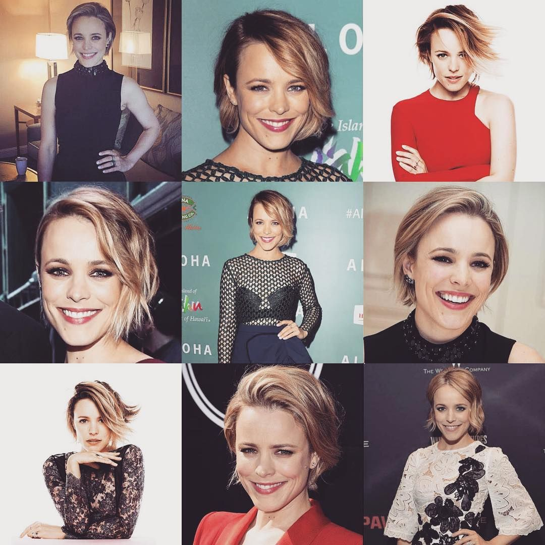 You guys, Rachel McAdams' beauty game is on point during her #Southpaw press tour. We're loving this short hair on her. What a beauty. #beautygame #onpoint #presstour #beauty #loveher #glamgal #rachelmcadams #shorthairdontcare #cleartheshoulders #flawless