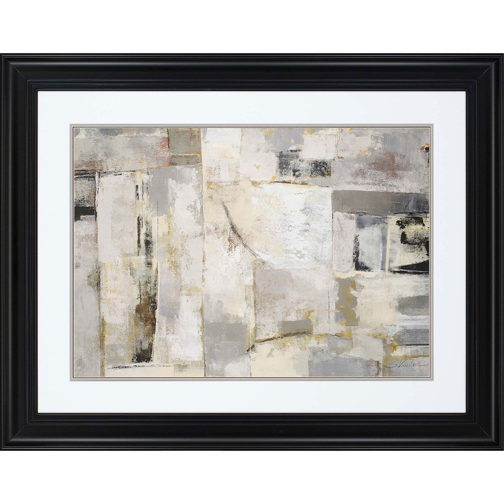 Walking down the street framed abstract wall art abstract wall