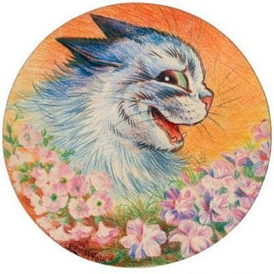 Flowers for You by Louis Wain