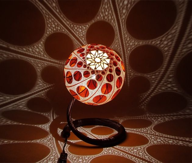Exceptional Calabarte Lamps U2013 Carved From The Calabash Gourd Fruit