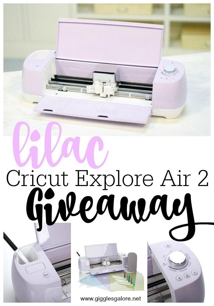 Lilac Cricut Explore Air 2 Giveaway Cricut Explore Air Cricut Explore Cricut