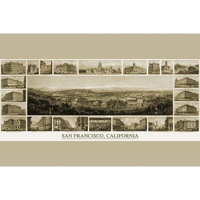 Buyenlarge 'City of San Francisco. Birds Eye View from the Bay Looking South West' Graphic Art Size: