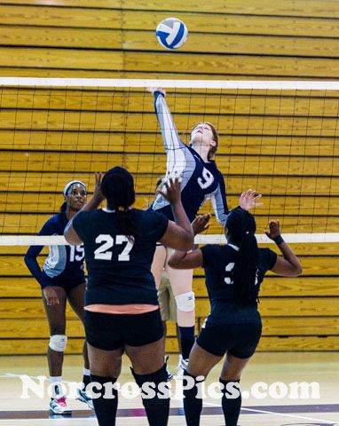 Norcross Volleyball over Alcovy in 2.