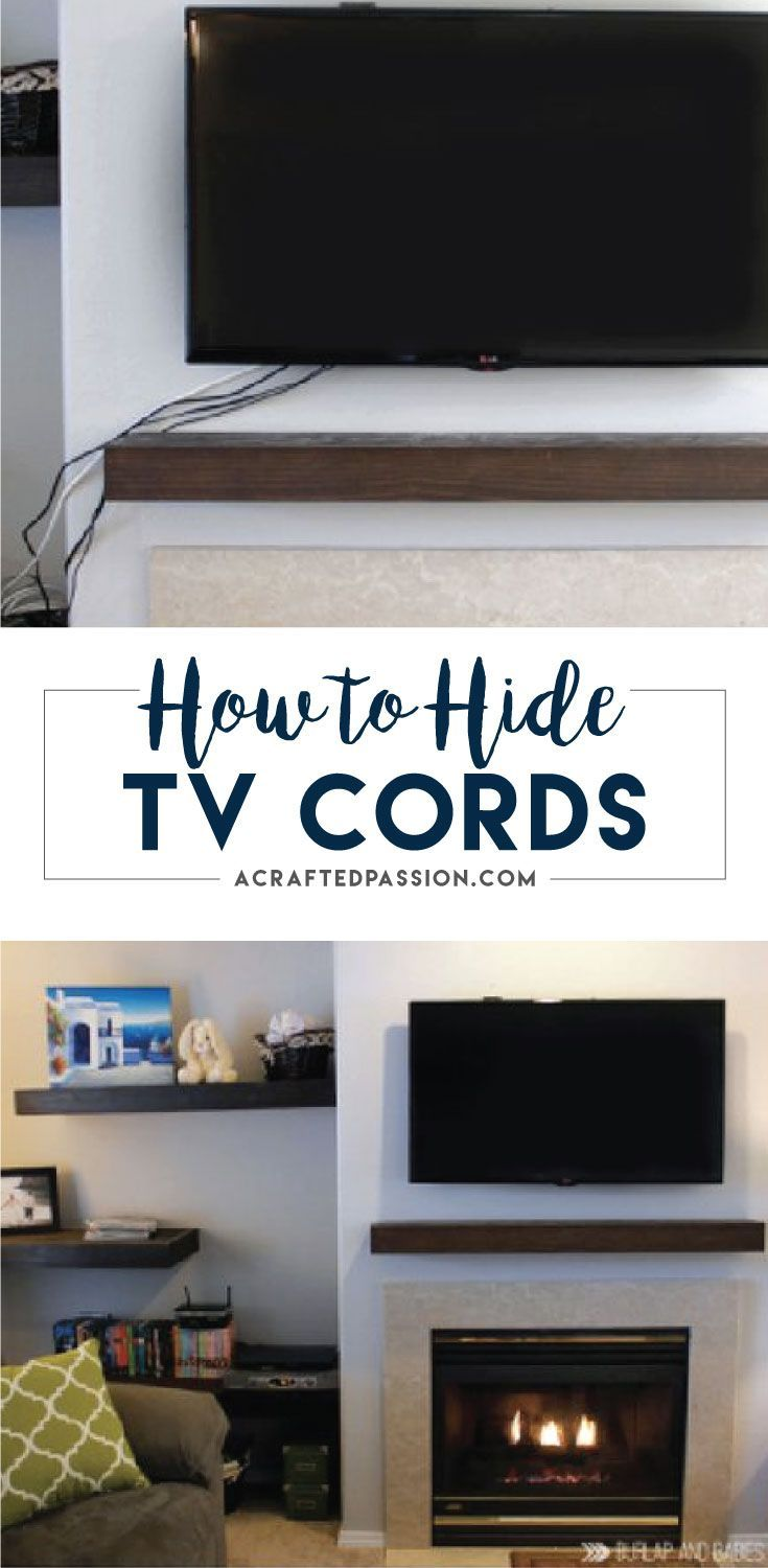 How to hide tv cords hide tv cords hide tv and cord for How to hide electrical cords on wall