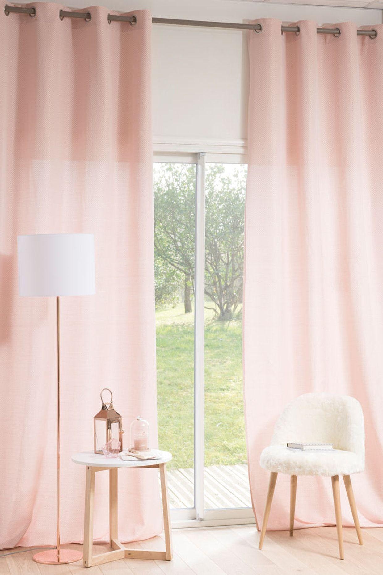 des rideaux rose poudr salon de 2019 pinterest. Black Bedroom Furniture Sets. Home Design Ideas