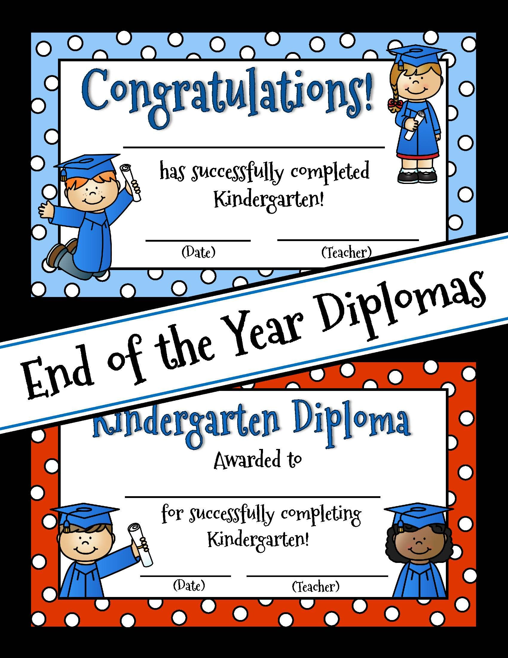 End Of Year Certificates And Diplomas Preschool